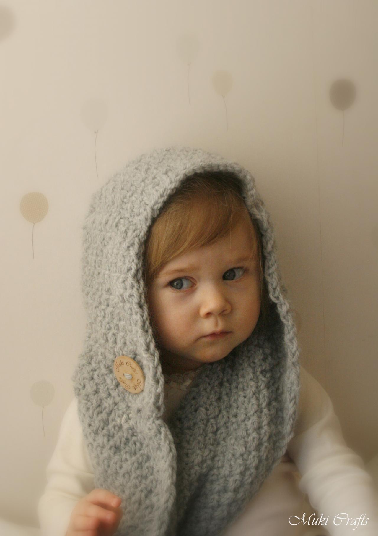 KNITTING PATTERN Hooded Scarf Scoodie Willow (toddler, Child, Adult ...